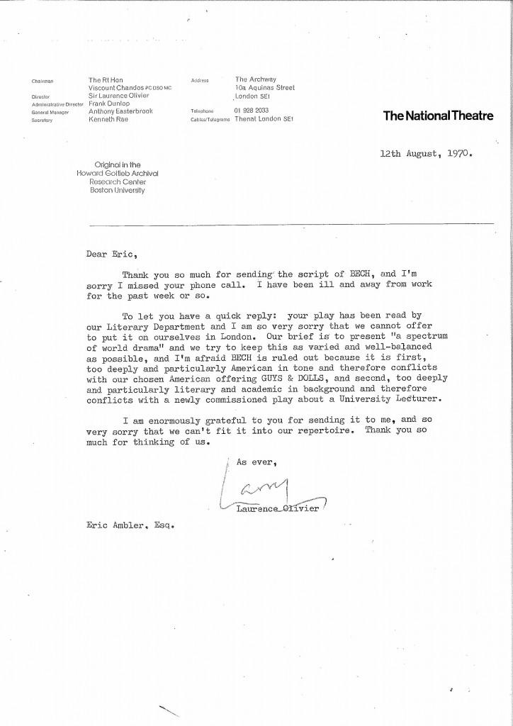 Laurence letter
